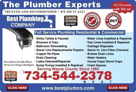 Plumbing Companies Near Me by Best Plumbing Company Coupons Near Me In Dearborn 8coupons