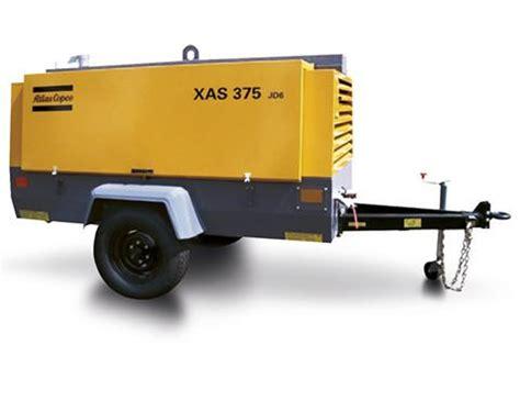 Jual Air Compressor Atlas Copco atlas copco xas 375 cd6 air compressor rentals probe support services