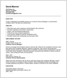 Customer Service Resume Example Sales Amp Marketing Resume Examples