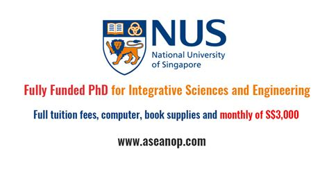 Nus Phd Mba 2017 by Of Singapore Scholarship For Integrative