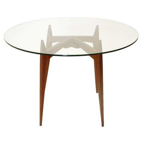 italian mid century glass dining table 1950s at 1stdibs