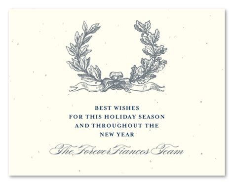 printable christmas business cards christmas business cards on seeded paper antique wreath