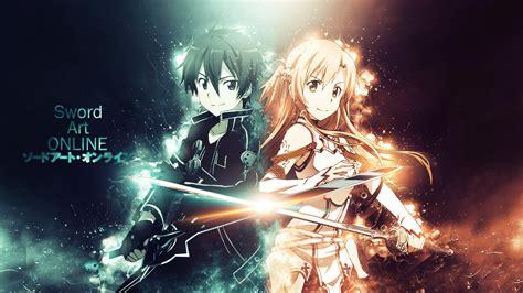 wallpaper laptop sword art online kirito and asuna wallpaper and background image 1600x900