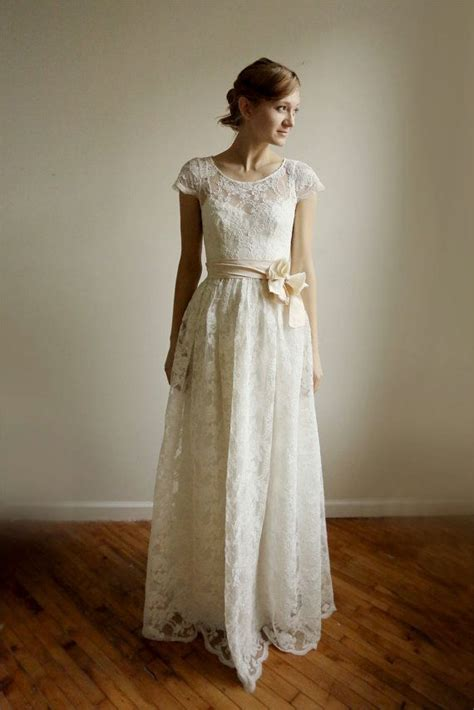 Cotton Wedding Dresses by Ellie 2 Lace And Cotton Wedding Dress