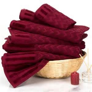 burgundy bath towels lavish home 8 100 cotton bath towel set in burgundy