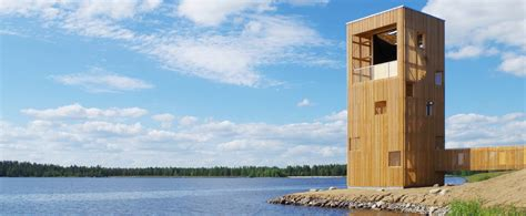 observation tower plans oopeaa s wooden periscope tower in finland