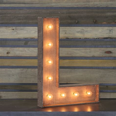 With L by Edison Marquee Letter Quot L Quot Town Country Event Rentals