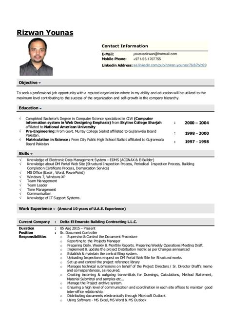 resume for document controller sle 28 images cv of qa