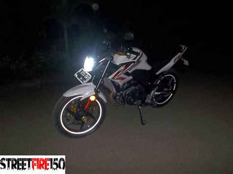 Lu Hid Motor Vinyx streetfire 150 perbandingan cahaya bohlam cb dan hid