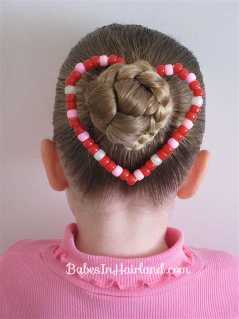 bun shaped hair styles bun a heart shaped craft hairstyle babes in hairland