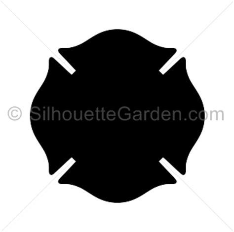 fireman badge silhouette