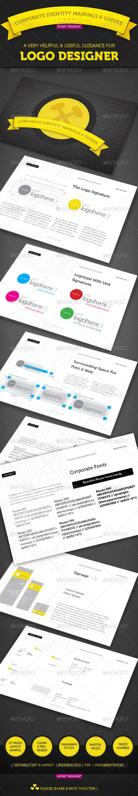 corporate identity manual template corporate identity manuals and guides template graphicriver