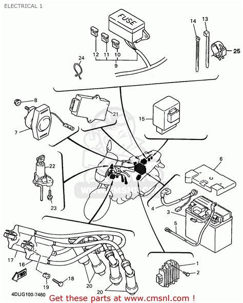 yamaha qt50 wiring diagram wiring and parts diagram
