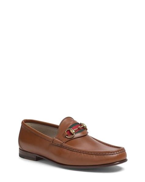 gucci classic loafer gucci new classic bit loafer in brown for lyst