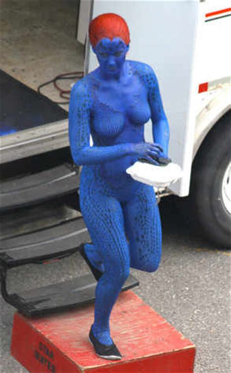Marvel Ls Uk by Chows In Costume As Mystique On Set