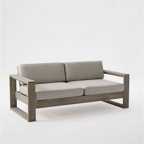 sofa wood frame portside sofa west elm