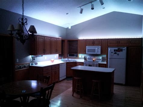 kitchen overhead lighting led tape lights kitchen roselawnlutheran