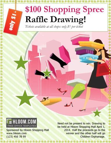 Raffle Drawing Flyer Template 16 free raffle flyer templates prize 50 50