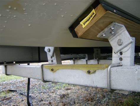 replacing boat trailer rollers with bunks hull repair while on trailer the hull truth boating