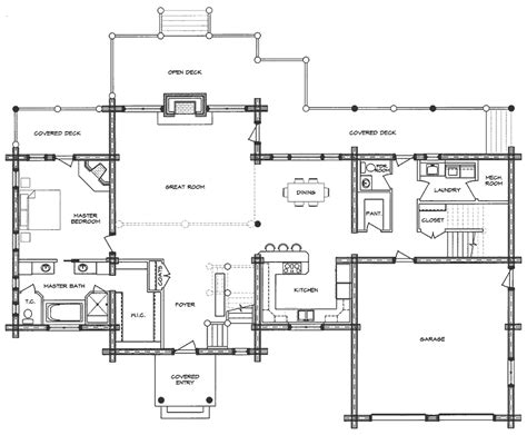 log home floor plan westerner
