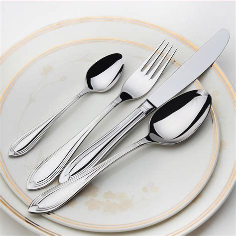 beautiful flatware stainless cutlery 24 flatware sets silver salad luxury restaurant kitchen wedding dinner