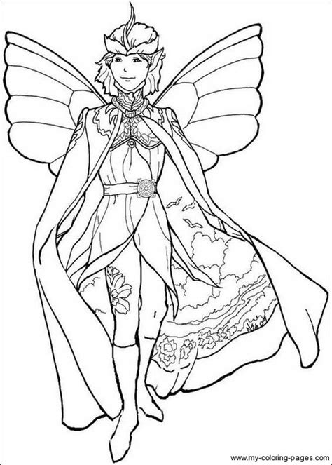 Boy Fairy Coloring Page   boys fairies and coloring on pinterest