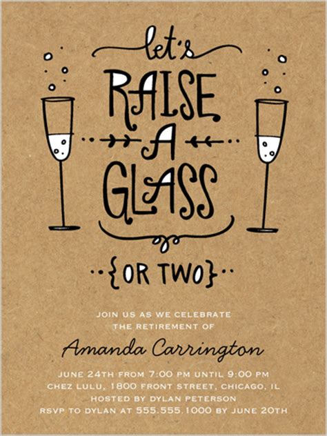 raise your glass 4x5 invitation new years invitations