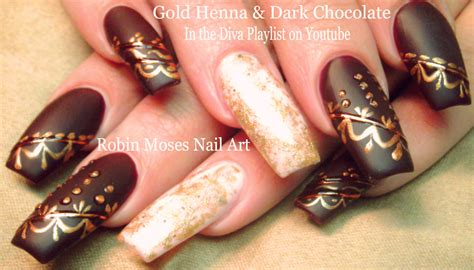 Nail Nails by Nail By Robin Moses Matte Nails With Henna