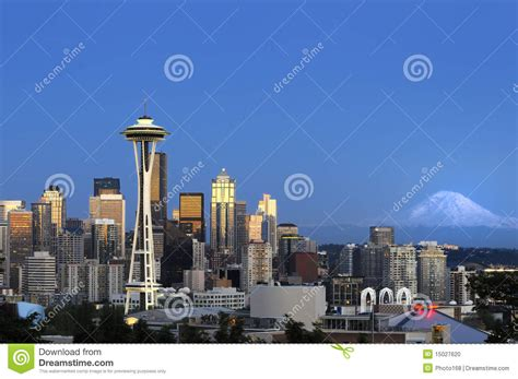 Cityu Of Seattle Mba by Downtown Seattle Skyline Stock Photo Image 15027620