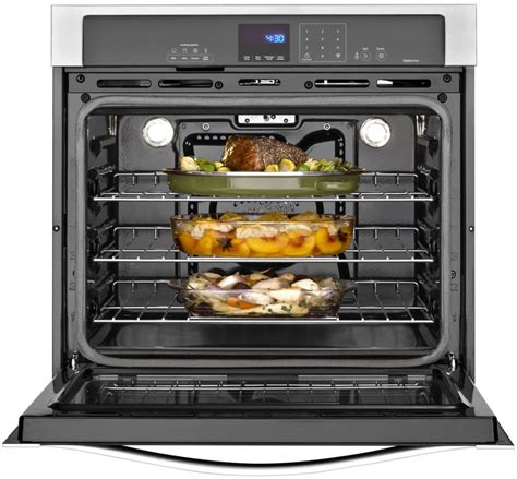 Oven Bima No 2 whirlpool wos92ec0as 30 inch single electric wall oven with true convection self clean steam