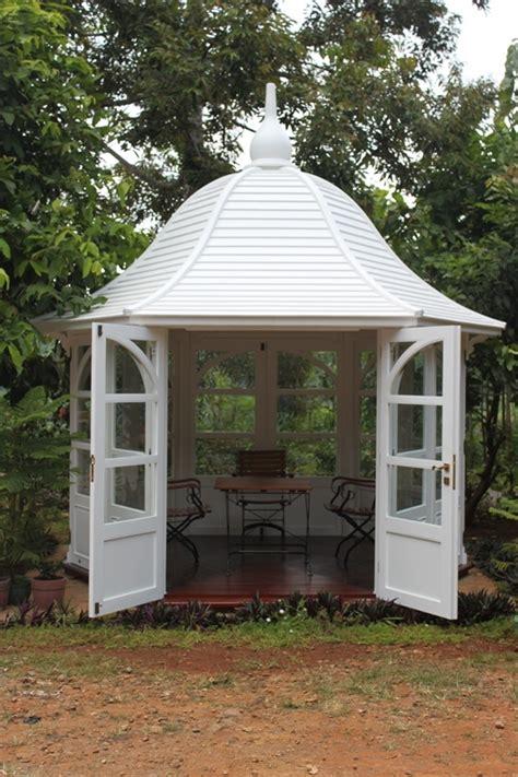 kleiner gartenpavillon pavillon princess teak gartenhaus holz garten pavillion