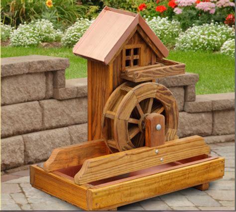 backyard water wheel amish water wheel fountain wooden garden yard decor new