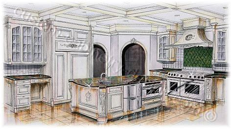 Home Floor Plans With Cost To Build by Cabinetry 3d Rendering Kitchen Design Perspective