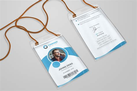 microsoft id card design ai and psd identity card template for business corporate