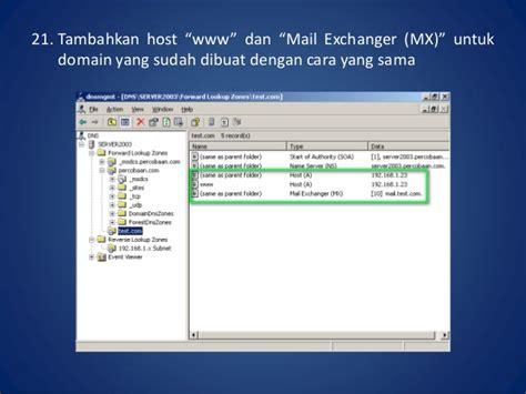 cara konfigurasi dns di windows server 2003 konfigurasi mail server dengan beda domain dalam satu