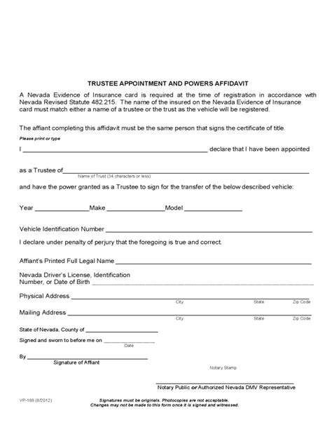 appointment  trustee form   templates
