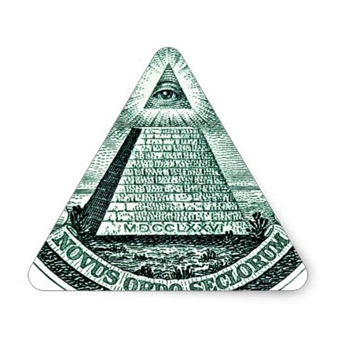 illuminati triangle eye on the dollar illuminati pyramid triangle sticker zazzle