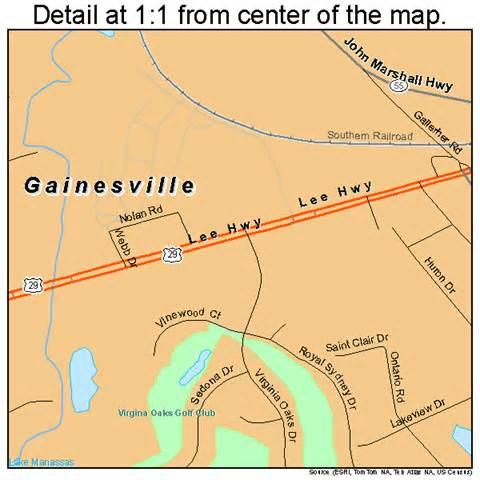 map of gainesville gainesville virginia map 5130176