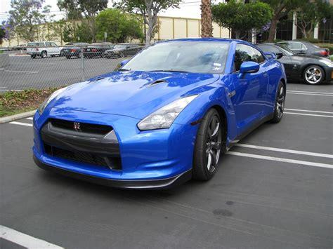 Blue Nissan Gtr Blue Nissan R35 Gt R Visits Stillen Stillen Garage
