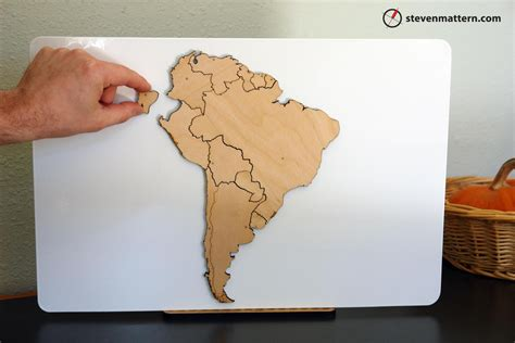 america map puzzle south america map puzzle birch plywood