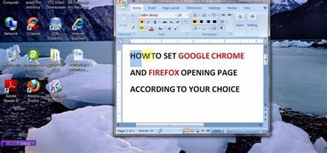 how to set chrome and firefox home page 171