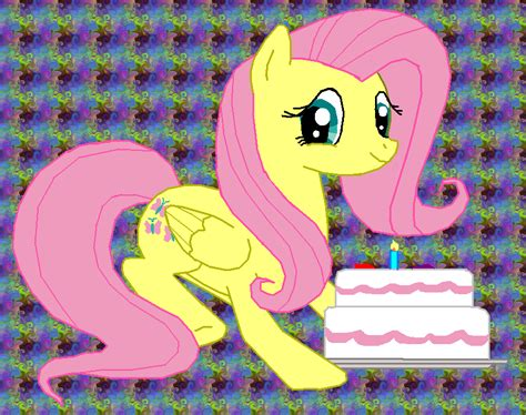 mlp fluttershy happy birthday happy birthday from fluttershy by fluttershy626 on deviantart