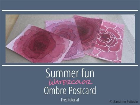 watercolor ombre tutorial 193 best images about flowers outlines and how tos on