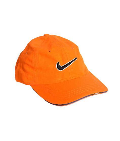 nike orange cotton baseball cap buy rs