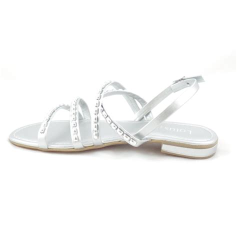 strappy silver sandals lotus silver open toe flat strappy sandals lotus from