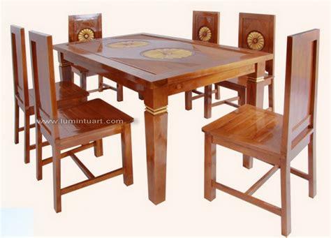 Meja Makan Ukiran 6 Kursi set kursi meja makan jati jepara minimalis ukiran matahari ud lumintu gallery furniture