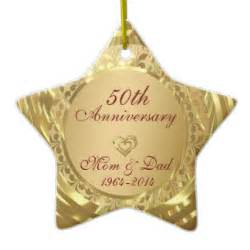 50th wedding anniversary christmas ornaments 50th