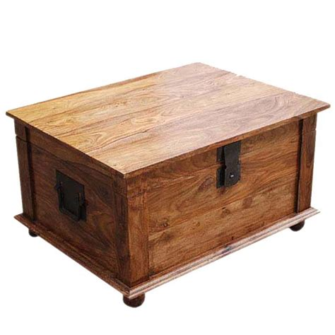 Coffee Tables Trunks Nevada Solid Wood Coffee Table Storage Trunk
