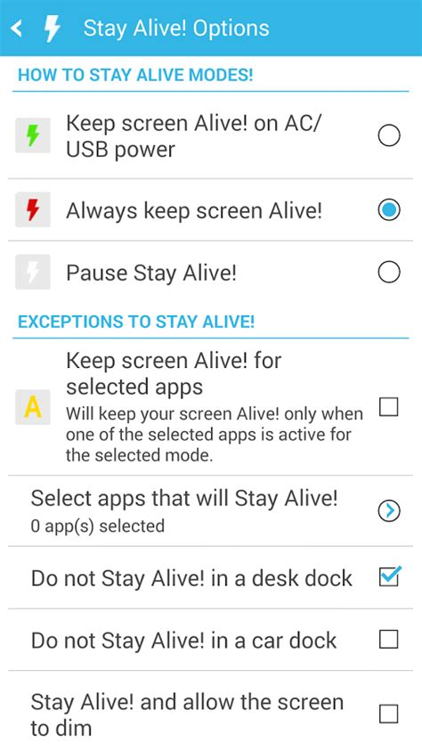 keep screen on apk stay alive keep screen awake android apps auf play