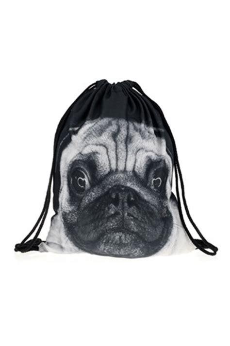 pug print backpack pug print drawstring backpack